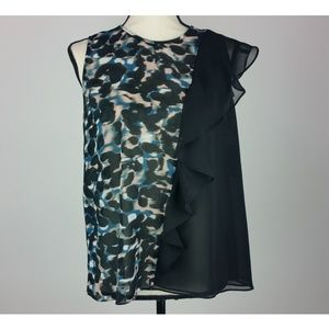Rachel Roy Womens Blouse Medium Sleeveless B57-14P